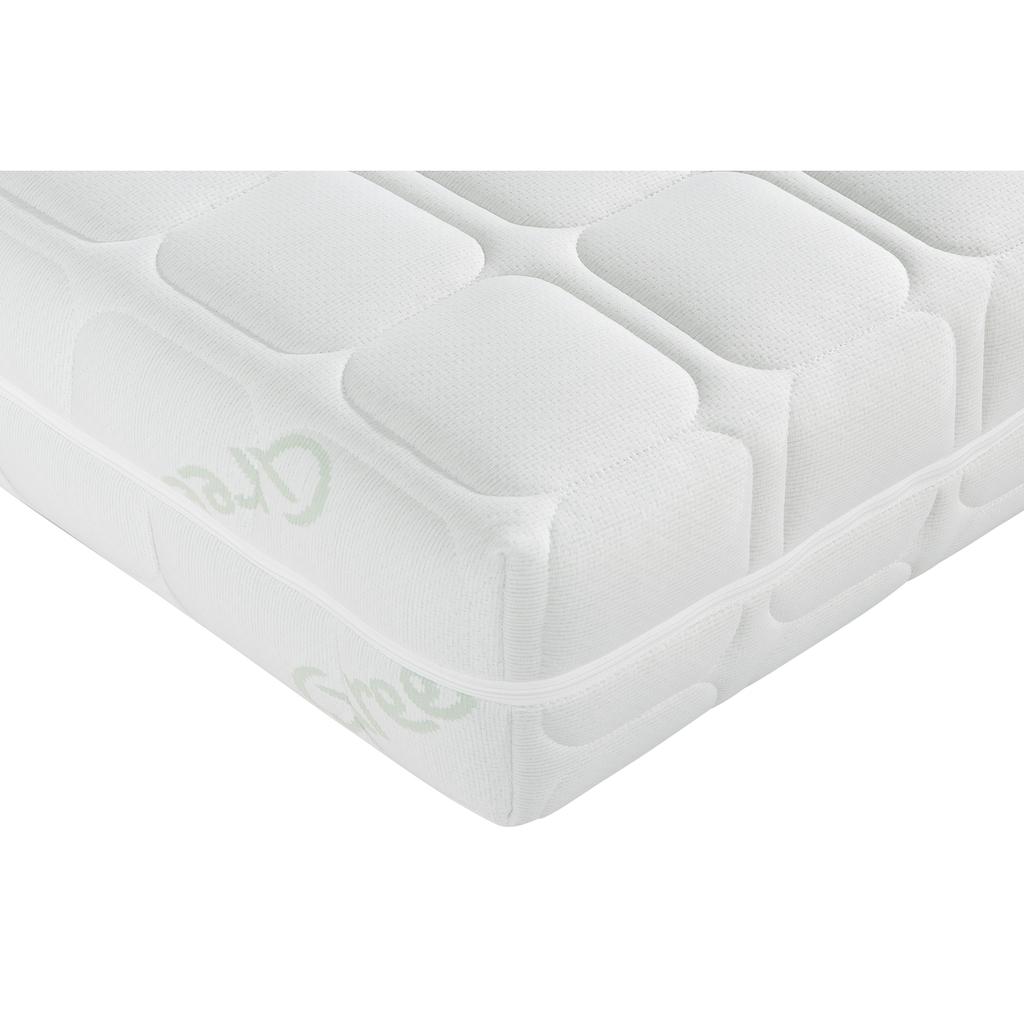 """BeCo EXCLUSIV Taschenfederkernmatratze + Lattenrost »""""Vario Plus TFK & Universal NV""""«, (Set, Set besteht aus 2 Teilen, Matratze und Lattenrost.), Wendematratze mit zwei unterschiedlich festen Liegeseiten"""