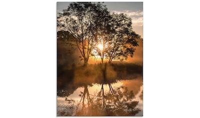 Artland Glasbild »Früh morgens, wenn der Tag erwacht«, Gewässer, (1 St.) kaufen