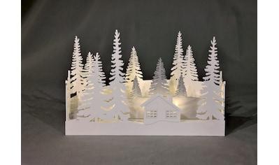 HGD Holz - Glas - Design Tischdiorama Winterwald kaufen
