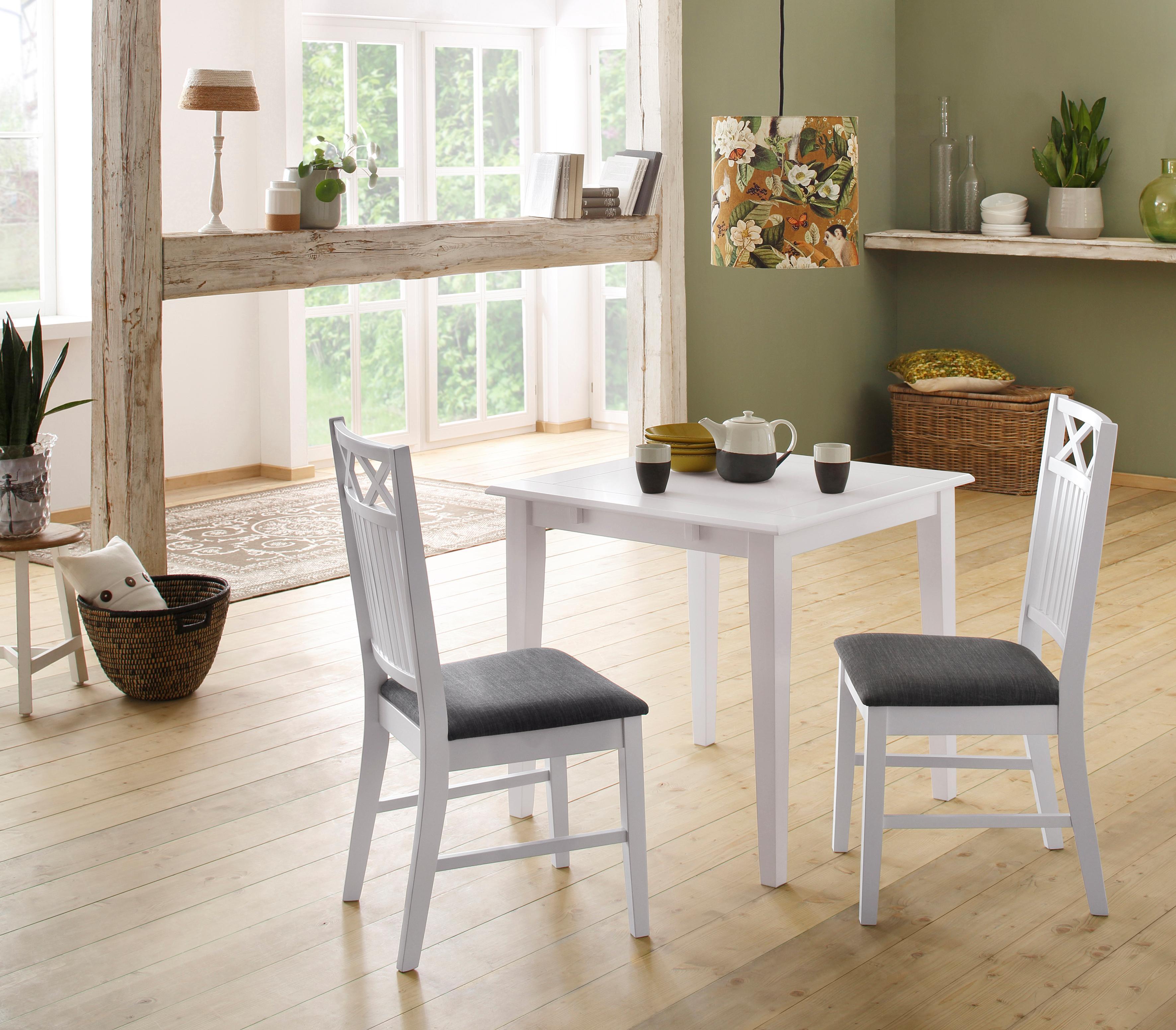 Home affaire Esstisch Fullerton, aus massivem Kiefernholz, in drei verschiedenen Größen weiß Holz-Esstische Holztische Tische