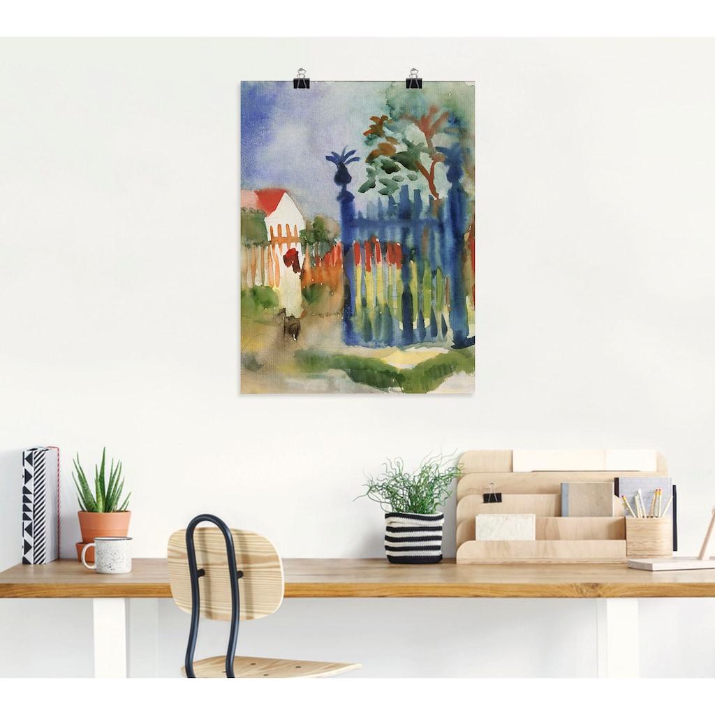 Artland Wandbild »Gartentor. 1914«, Garten, (1 St.), in vielen Größen & Produktarten -Leinwandbild, Poster, Wandaufkleber / Wandtattoo auch für Badezimmer geeignet
