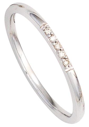 JOBO Diamantring, 585 Weißgold mit 5 Diamanten kaufen