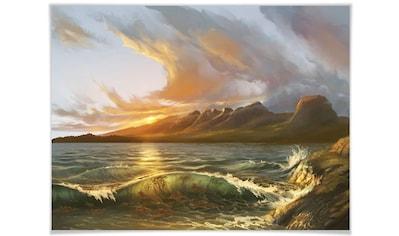 Wall-Art Poster »England Meer Küste Landschaft«, Landschaft, (1 St.), Poster, Wandbild, Bild, Wandposter kaufen