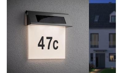 Paulmann LED Außen-Wandleuchte »Solar Hausnummer LED Edelstahl Weiß 0,2W«, Warmweiß kaufen