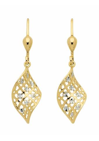 Adelia´s Paar Ohrhänger »333 Gold Ohrringe / Ohrhänger«, Goldschmuck für Damen kaufen