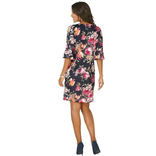 Lady Jersey-Kleid mit hinreißendem Blumen-Muster
