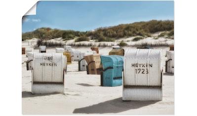 Artland Wandbild »Ein Tag am Meer«, Strand, (1 St.), in vielen Größen & Produktarten... kaufen