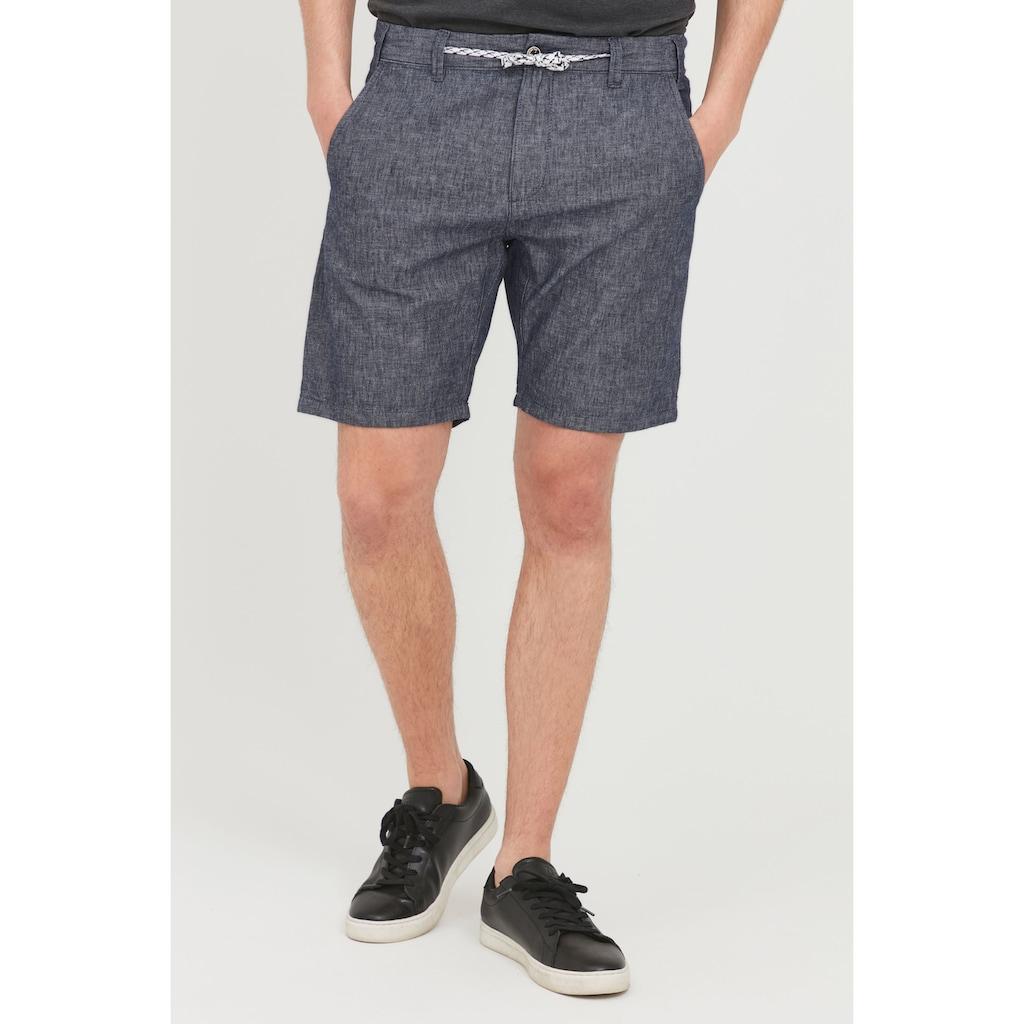 Indicode Shorts »INDICODE Herren Shorts Galgo«, kurze Hose aus Leinenqualität
