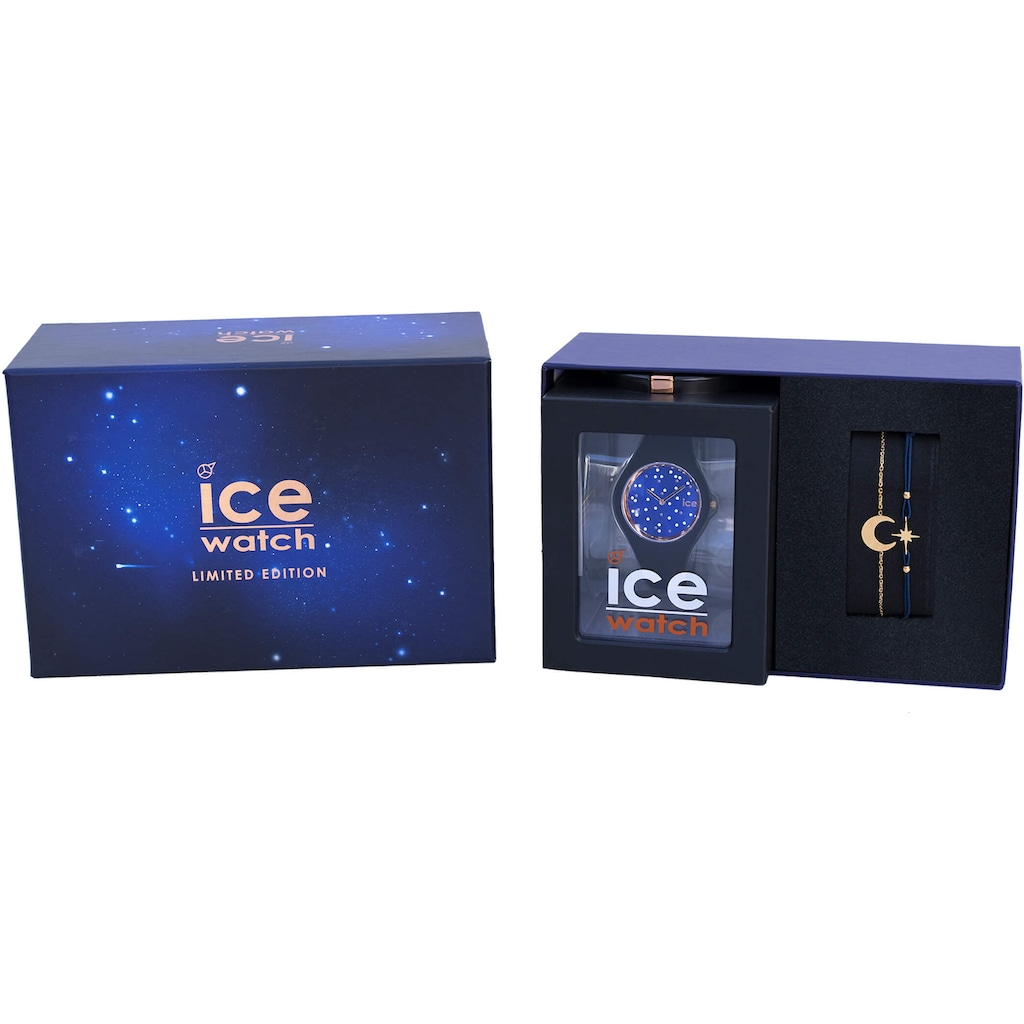 ice-watch Quarzuhr »Gift Box - ICE Cosmos - star deep blue - small, 18693«, (Set, 2 tlg., mit Armband)