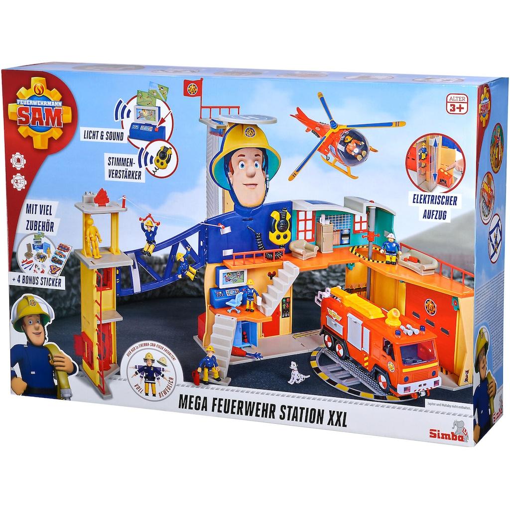 SIMBA Spielzeug-Feuerwehr »Feuerwehrmann Sam Mega Feuerwehrstation XXL«, mit Licht und Sound