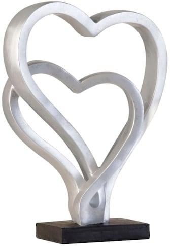 GILDE Dekoobjekt »Skulptur Hearts, antik silberfarben«, Höhe 30 cm, Herz-Form, antikfinish, Wohnzimmer kaufen