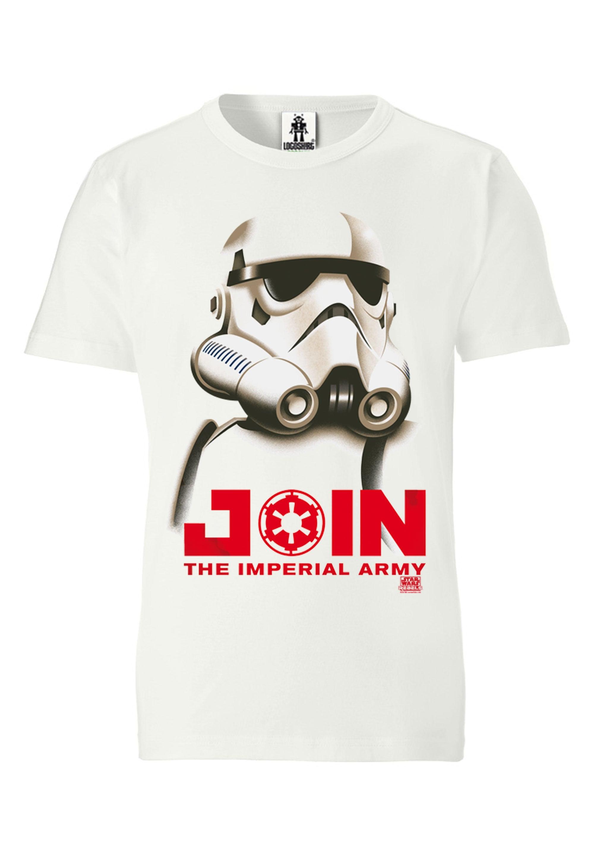 logoshirt -  T-Shirt mit Stormtrooper-Aufdruck