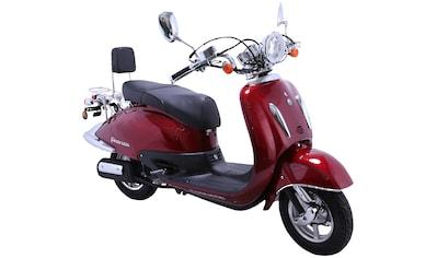 Alpha Motors Motorroller »Retro Firenze«, 3 PS, 50 ccm, 45 km/h, mattschwarz/braun kaufen