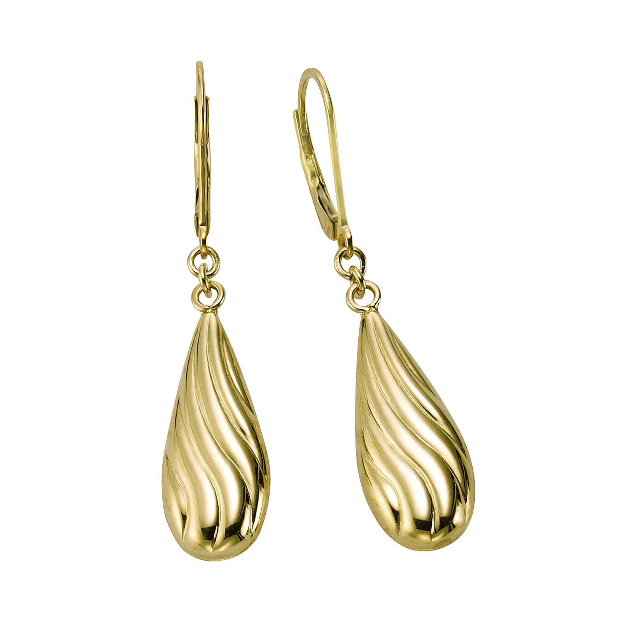 Ohrschmuck Ohrhänger 375 Gelbgold diamantiert Fascination by Ellen K