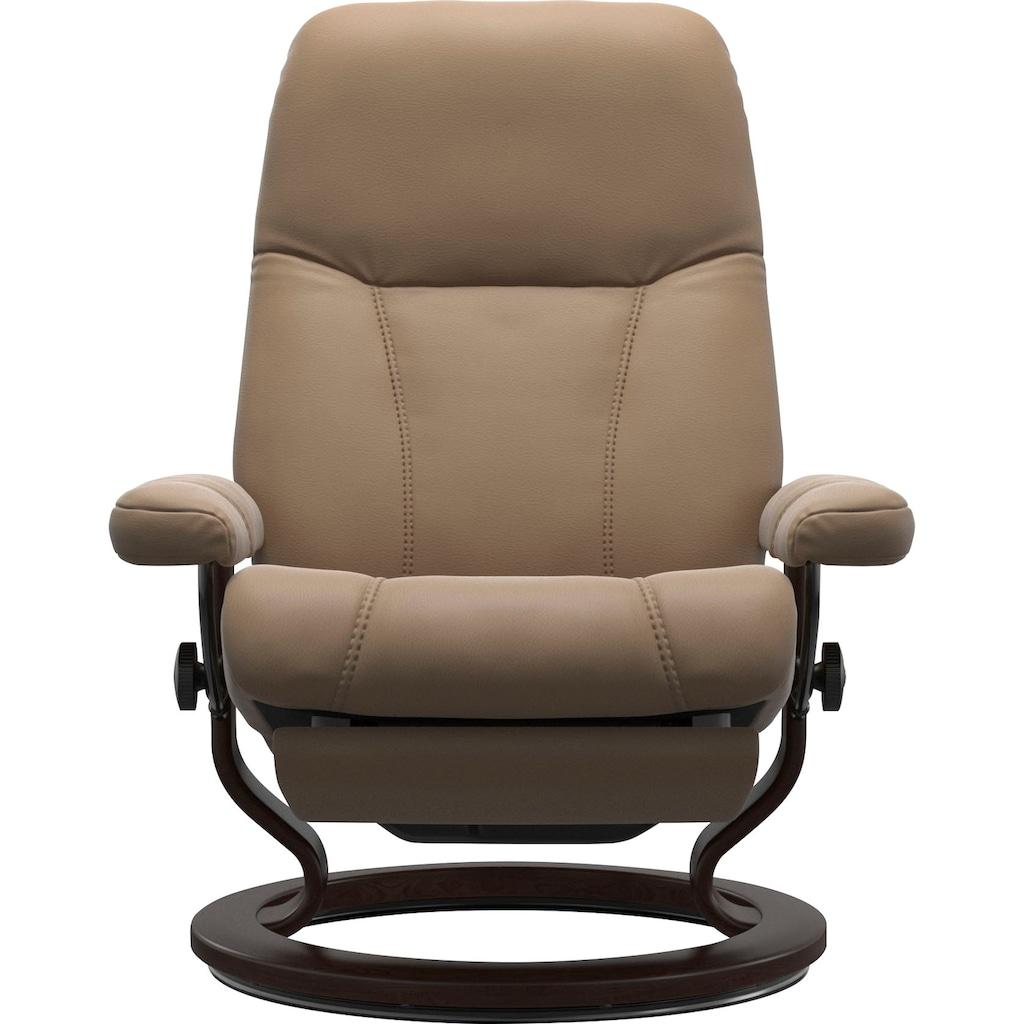 Stressless® Relaxsessel »Consul«, mit Classic Base und Power™, elektrisch verstellbar, optional 2-motorisch, Größe M & L, Gestell Braun