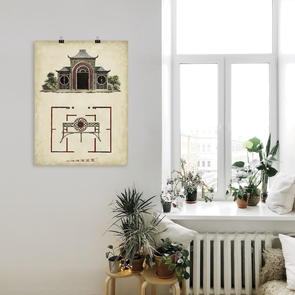Artland Wandbild »Gartentore IV«, Architektonische Elemente, (1 St.), in vielen Größen & Produktarten - Alubild / Outdoorbild für den Außenbereich, Leinwandbild, Poster, Wandaufkleber / Wandtattoo auch für Badezimmer geeignet