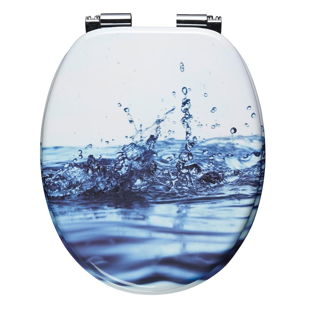 CORNAT WC-Sitz »Wassertropfen«, Mit Absenkautomatik