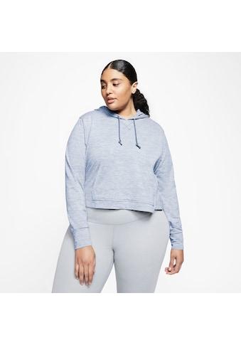Nike Kapuzensweatshirt »YOGA JERSEY CROP HOODIE PLUS SIZE« kaufen