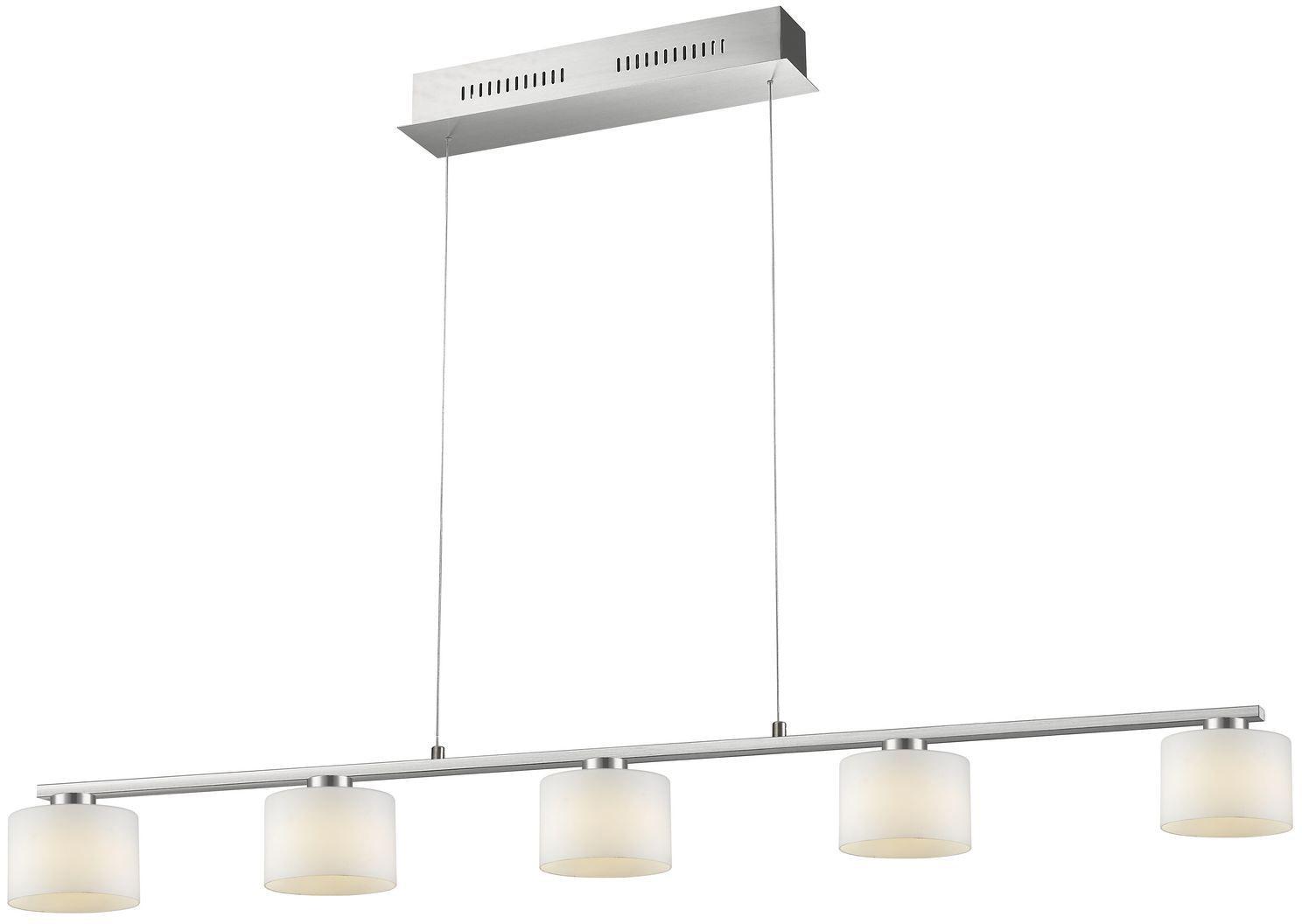 TRIO Leuchten LED Pendelleuchte Alegro, LED-Board, Warmweiß, LED Hängelampe, LED Hängeleuchte, Switch Dimmer