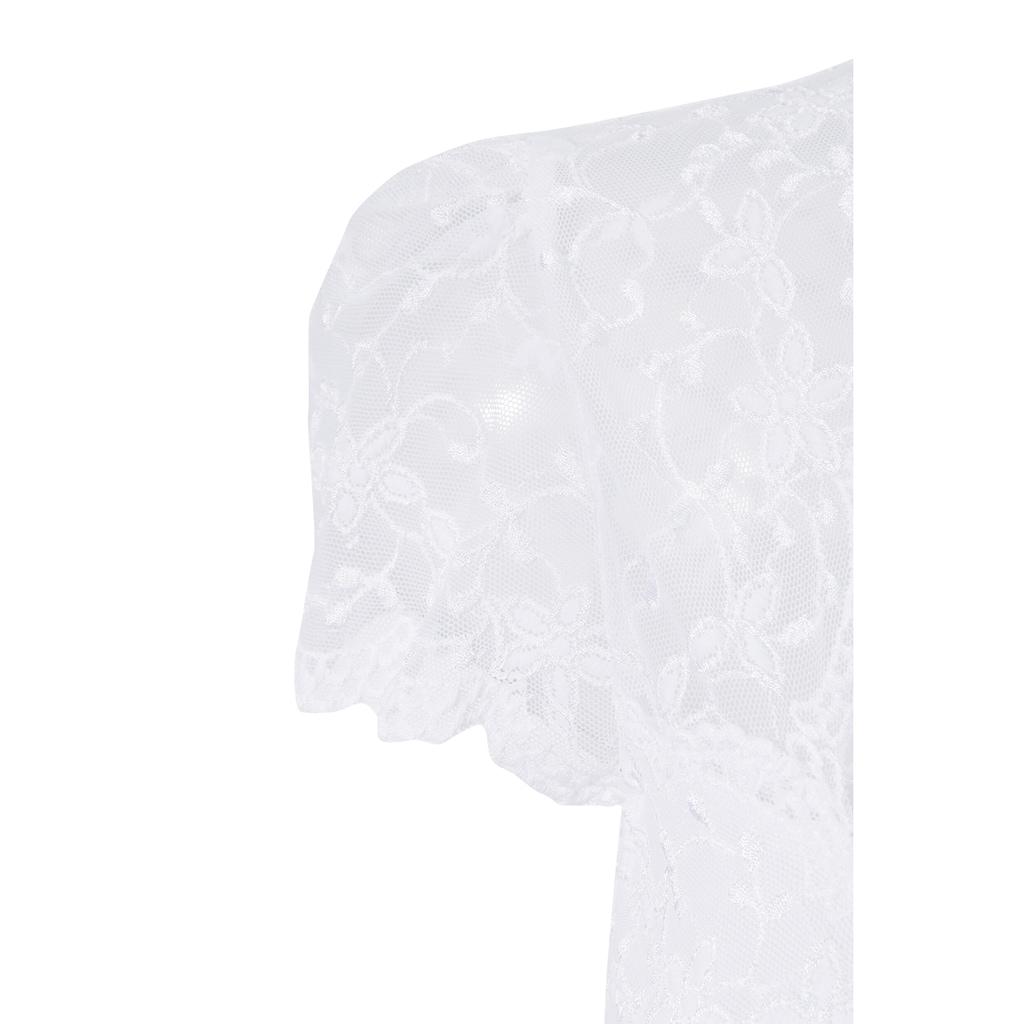 Nina Von C. Dirndlbluse, aus besonders weicher und elastischer Spitze