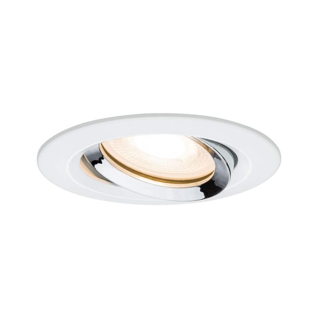 Paulmann LED Einbaustrahler »Nova IP65 rund max. 35W GU10/GU5,3 Weiß/Chrom schwenkbar«, GU 5,3-GU10, 1 St.
