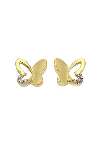 Zeeme Ohrstecker »333/ -  Gold bicolor Schmetterling« kaufen
