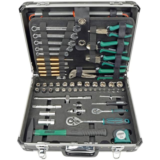 Brüder Mannesmann Werkzeuge Werkzeugset, (160 St.), mit Tragekoffer