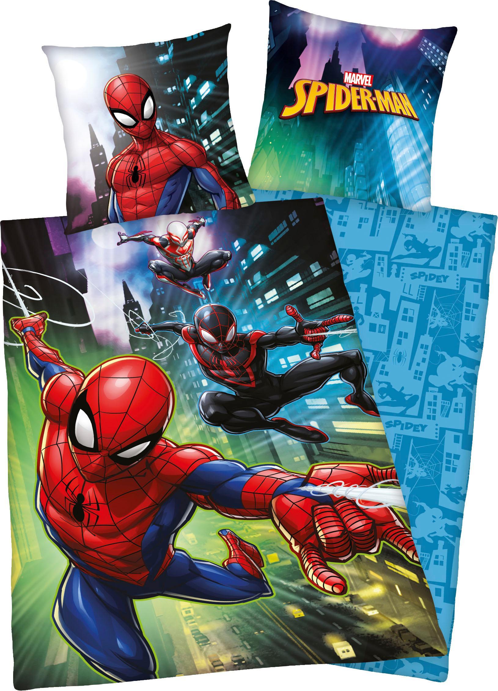 Kinderbettwäsche Spiderman Marvel   Kinderzimmer > Textilien für Kinder > Kinderbettwäsche   Bunt   Baumwolle   Marvel