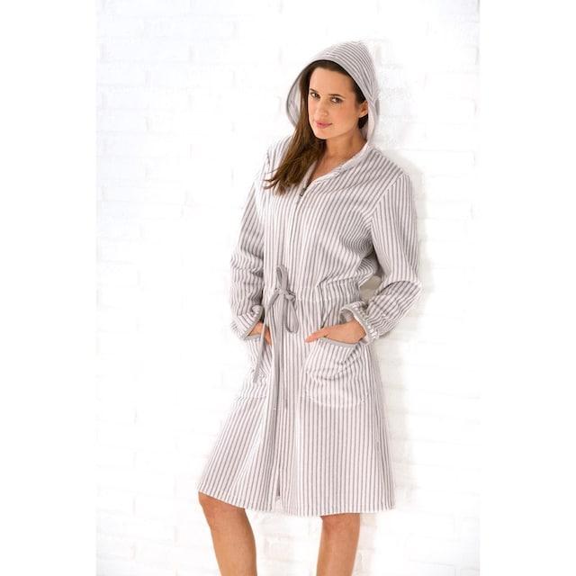 Cawö Damenbademantel »Borkum«, (1 St.), mit feinen Streifen