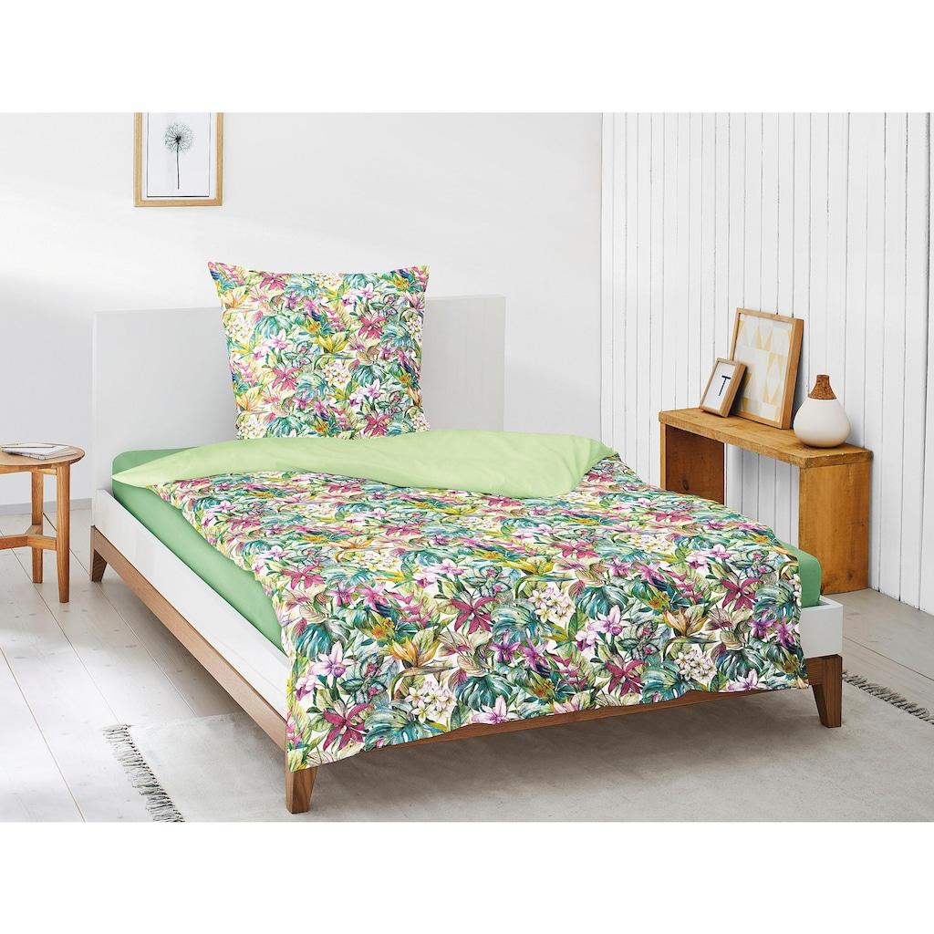 Irisette Bettwäsche »Juwel-K 8893«, mit tropischem Allover-Blumenprint