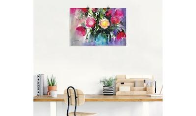 Artland Wandbild »Pfingstrosen in Vase« kaufen