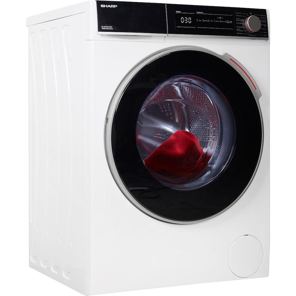 Sharp Waschmaschine »ES-NFH014CWC-DE«, ES-NFH014CWC-DE, 10 kg, 1400 U/min
