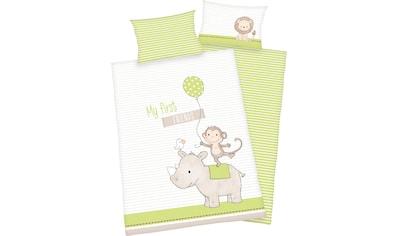 Baby Best Babybettwäsche »My first friends«, mit niedlichem Motiv und liebevollem... kaufen