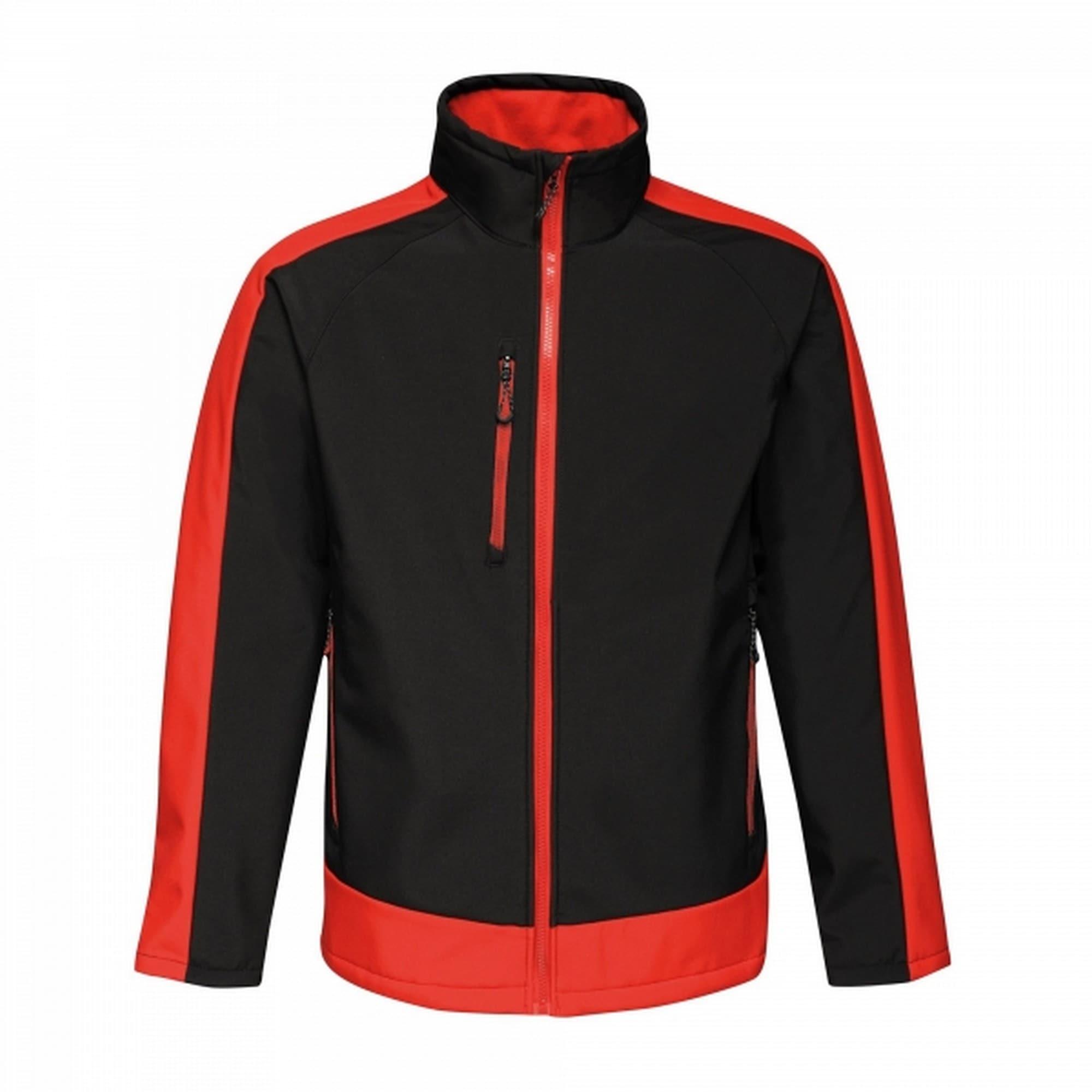 Regatta Softshelljacke Herren mit Kontrastdetails dreilagig | Sportbekleidung > Sportjacken > Softshelljacken | Schwarz | Regatta