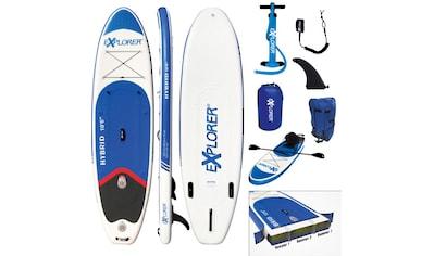 EXPLORER Inflatable SUP-Board »Hybrid 10.6 Doppelkammer Komplettset«, (9 tlg.), mit... kaufen