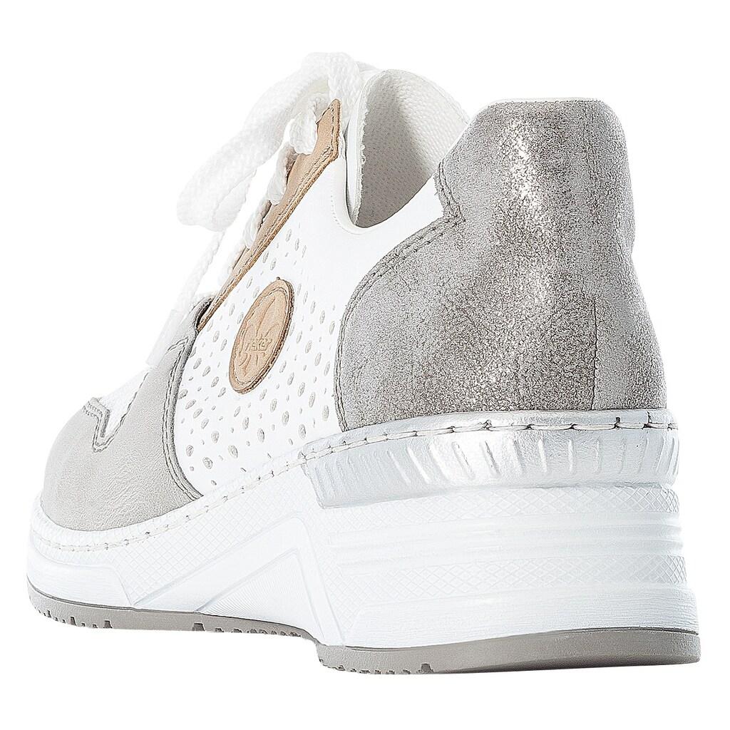 Rieker Wedgesneaker, mit kontrastfarbenen Details