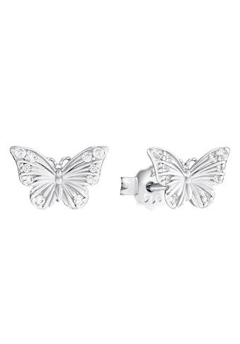 Amor Paar Ohrstecker »Schmetterling, 2031780«, mit Zirkonia (synth.) kaufen