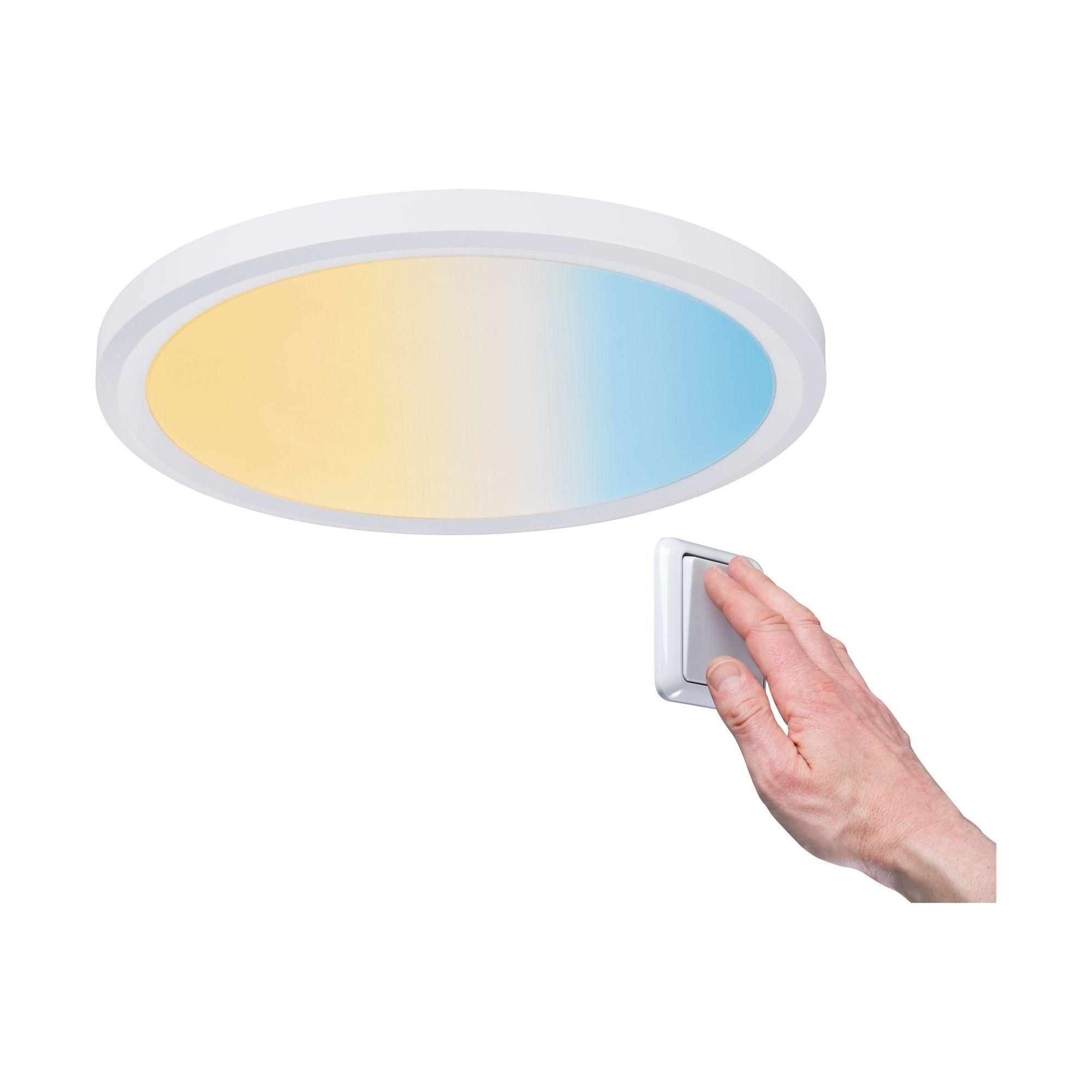 Paulmann,LED Einbaustrahler Panel Dimmbar Badleuchte Weiß rund 9W