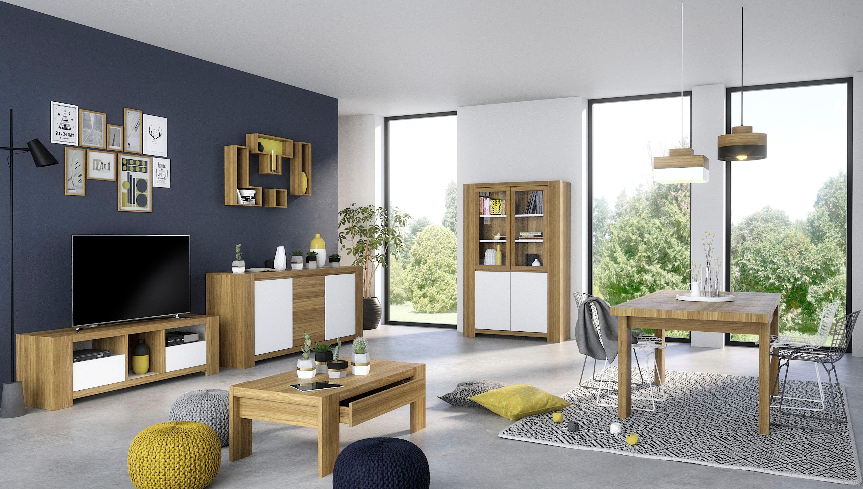 Home affaire Couchtisch Campton aus schönem Eichenholzfunier und einer Schublade Breite 110 cm