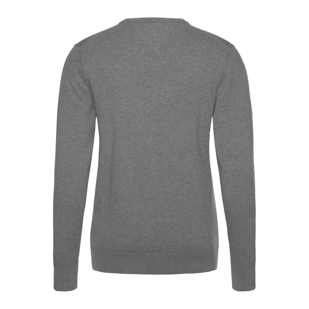 TOMMY HILFIGER V-Ausschnitt-Pullover »PIMA COTTON CASHMERE V NECK«