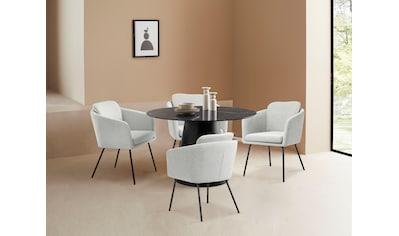 LeGer Home by Lena Gercke Esszimmerstuhl »Fleur«, Sitz -und Rücken gepolstert, in 4 Farben erhältlich kaufen