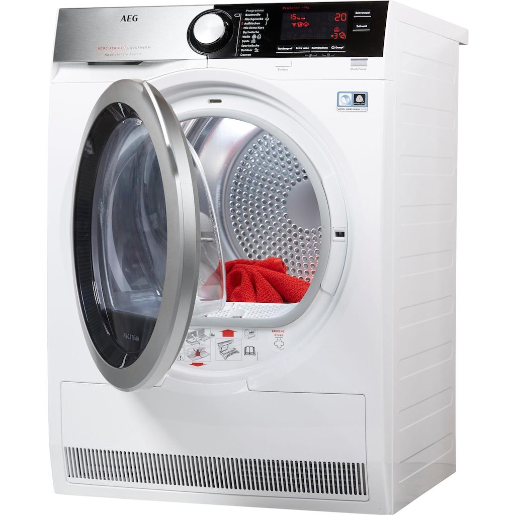 AEG Wärmepumpentrockner »T8DE88595D«, AbsoluteCare für Wolle, Seide, Outdoor