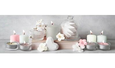 Art for the home Leinwandbild »Kerzen«, mit LED kaufen