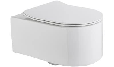 Wand WC »Trento«, Toilette spülrandlos, inkl. WC - Sitz mit Softclose kaufen