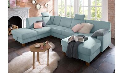 Home affaire Wohnlandschaft »Belfort«, mit Federkern, wahlweise mit Bettfunktion und... kaufen