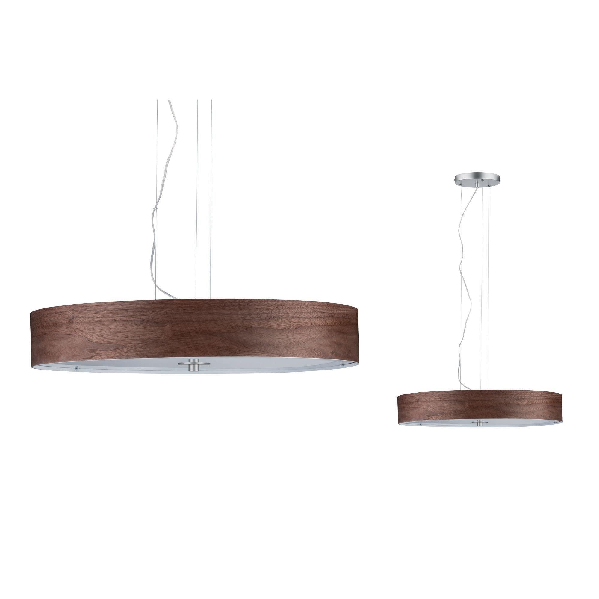 Paulmann,LED Pendelleuchte Neordic Liska Holz dunkel/Chrom matt