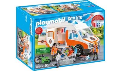 Playmobil® Konstruktions-Spielset »Rettungswagen mit Licht und Sound (70049), City Life«, Made in Germany kaufen