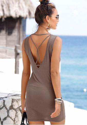 LASCANA Longshirt, mit sexy Rückenausschnitt kaufen