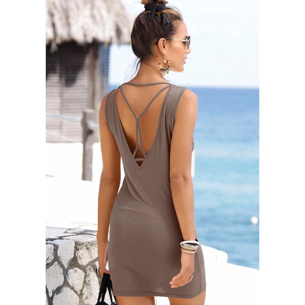 LASCANA Longshirt, mit sexy Rückenausschnitt