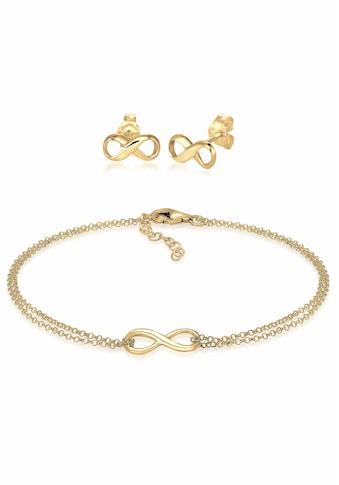 Elli Schmuckset »Infinity Symbol Armband Ohrstecker Set 925 Silber« kaufen